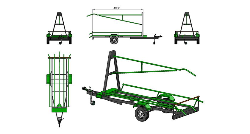 Rapid deployment trailer — economical trailer