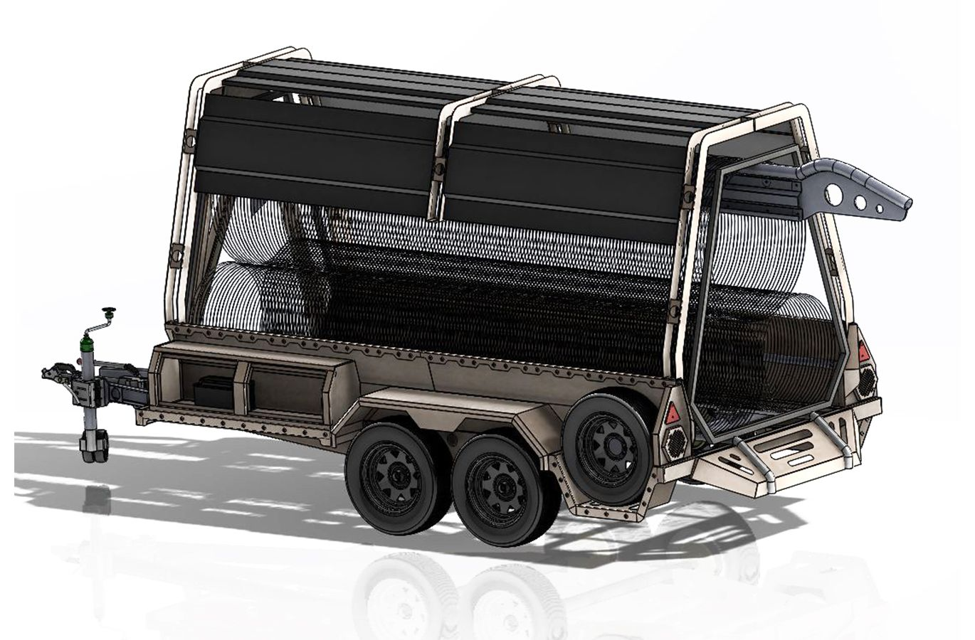 Military rapid deployment trailer ISO
