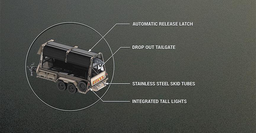 Mobile barrier system rapid deployment trailer specification